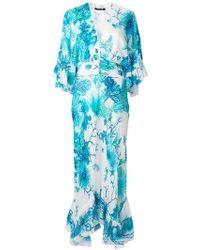 Lyst - Roberto Cavalli Pleated Maxi Dress in Pink c7084542f