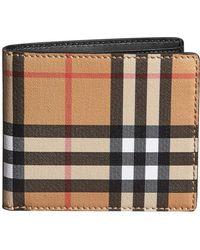 Burberry - Vintage Check International Bifold Wallet - Lyst
