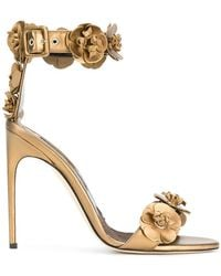 Brian Atwood - 3d Flower Detail Sandals - Lyst
