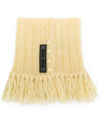 Miu Miu - Knitted Collar Scarf - Lyst