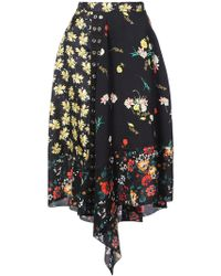 Derek Lam - Asymmetrical Mixed Print Skirt - Lyst