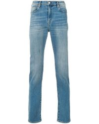 PS by Paul Smith - High Rise Straight Stonewashed Jeans - Lyst
