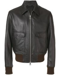Lyst - The Kooples Vintage Biker Jacket in Blue for Men db7646ecce1
