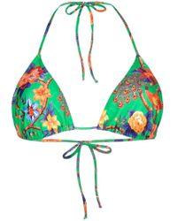 LaDoubleJ - Top de bikini Pavone Verde - Lyst