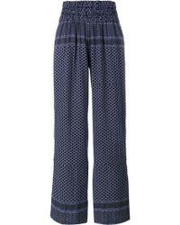 Cecilie Copenhagen   Keffiyeh Printed Cotton Trousers   Lyst