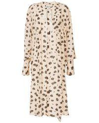 Marni - Floral Flared Midi Dress - Lyst