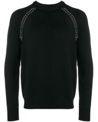 Les Hommes - Disc Embellished Sweater - Lyst