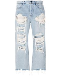 Alexander Wang - Rival W Destroyed Jeans - Lyst