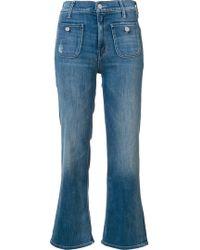 Mother 'maverick' Cropped Jeans