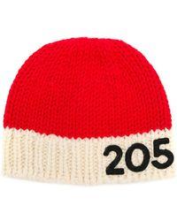 CALVIN KLEIN 205W39NYC - Contrast Logo Beanie Hat - Lyst
