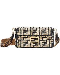 Lyst - Fendi Baguette Snakeskin Shoulder Bag in Red fe3b8109c8a17