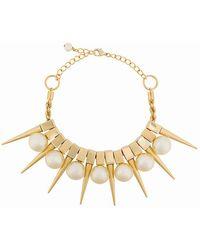Balmain - Danger Pearl Necklace - Lyst