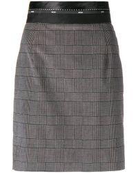 MSGM - Tartan Fitted Skirt - Lyst