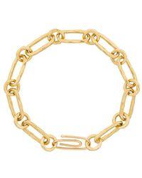 Aurelie Bidermann - Hammered Chain Bracelet - Lyst