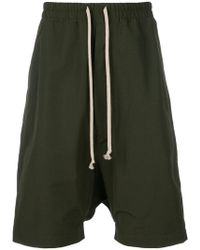 Rick Owens Drkshdw - Drop-crotch drawstring shorts - Lyst