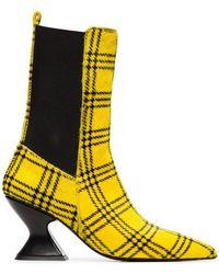 Marques'Almeida - Tartan Hourglass Heel Boots - Lyst