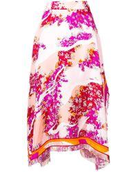 Emilio Pucci - Floral Asymmetric Skirt - Lyst