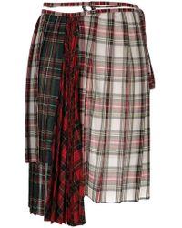 Facetasm - Asymmetric Tartan Skirt - Lyst