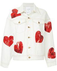 Ashish - Sequin Hearts Denim Jacket - Lyst