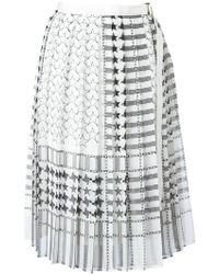 Sacai - Stars And Stripes Midi Kilt Skirt - Lyst