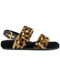 Car Shoe - Leo Fur Sandals - Lyst