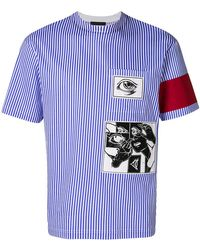 Prada - Striped Eye T-shirt - Lyst