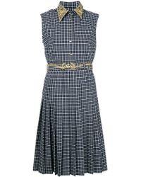 Thom Browne - Plaid Embroidered Shirt Dress - Lyst