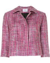 Akris Punto - Cropped Concealed Jacket - Lyst