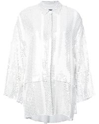 Sally Lapointe - Stitched Sequins Shirt - Lyst