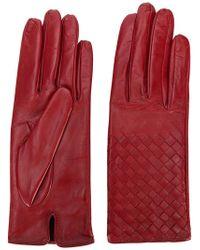 Bottega Veneta - Woven Effect Gloves - Lyst