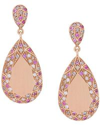 Carolina Bucci - Pave Frame Pear Cut Earrings - Lyst