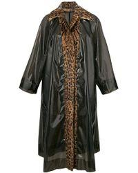 Dolce & Gabbana | Leopard Fur Trim Raincoat | Lyst