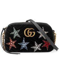 f31579121 Gucci GG Marmont Velvet Shoulder Bag in Purple - Save 30% - Lyst
