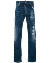 DSquared² - Distressed Flared-leg Jeans - Lyst
