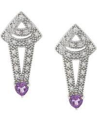 V Jewellery | Amethyst Earrings | Lyst