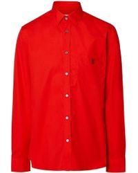 Burberry - Monogram Motif Stretch Poplin Shirt - Lyst