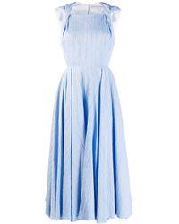 Emilia Wickstead Textured Flared Dress