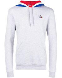 Le Coq Sportif - Contrast Hooded Sweatshirt - Lyst