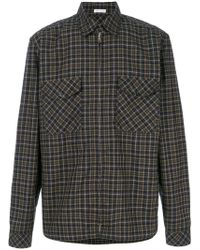 Tomas Maier - Nutmeg Check Utility Shirt - Lyst