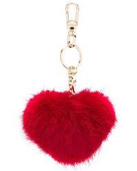 Twin Set Heart-shaped Pompom Keyring