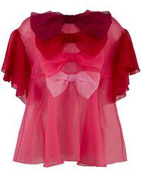 Dolce & Gabbana - Multiple Bow Blouse - Lyst
