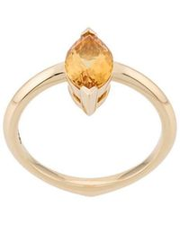 Stephen Webster - 18kt Yellow Gold Citrine Gemstone Stacking Ring - Lyst