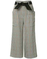 Guild Prime - Checked Cropped Trousers - Lyst