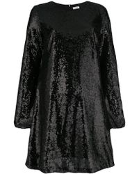 P.A.R.O.S.H. - Sequin Flared Dress - Lyst