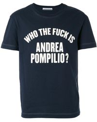 Andrea Pompilio - 'who The Fuck' T-shirt - Lyst