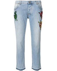 Gaëlle Bonheur - Bug Patch Straight Jeans - Lyst