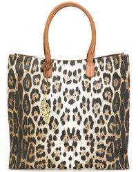 Roberto Cavalli - Leopard Shopper Bag - Lyst