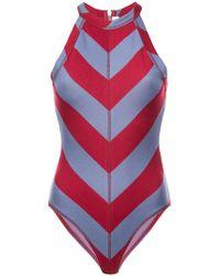 Proenza Schouler - Pswl Diagonal Stripe Bodysuit - Lyst