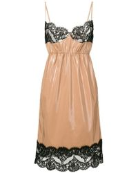 N°21 - Lace-hem Contrast Flared Dress - Lyst