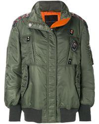 Ermanno Scervino - Embroidered Trim Bomber Jacket - Lyst